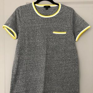 NWT Jcrew Slub Cotton Contrast Tee